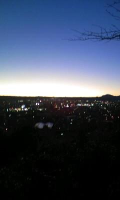冬至の日没(島田市)