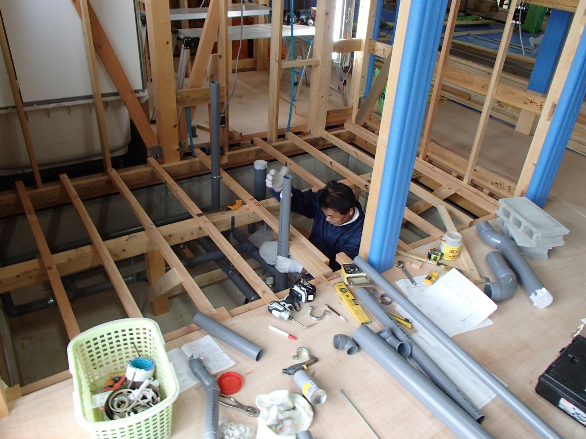 OLYMPUS DIGITAL CAMERA 浜北区の龍泉寺様檀信徒会館新築工事では、 大工工事